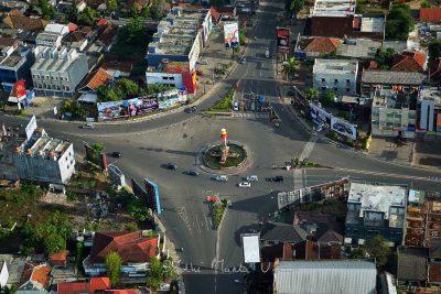 Tugu Adipura - Bundaran Gajah - Foto Udara Kota Bandar Lampung - Budhi Marta Utama