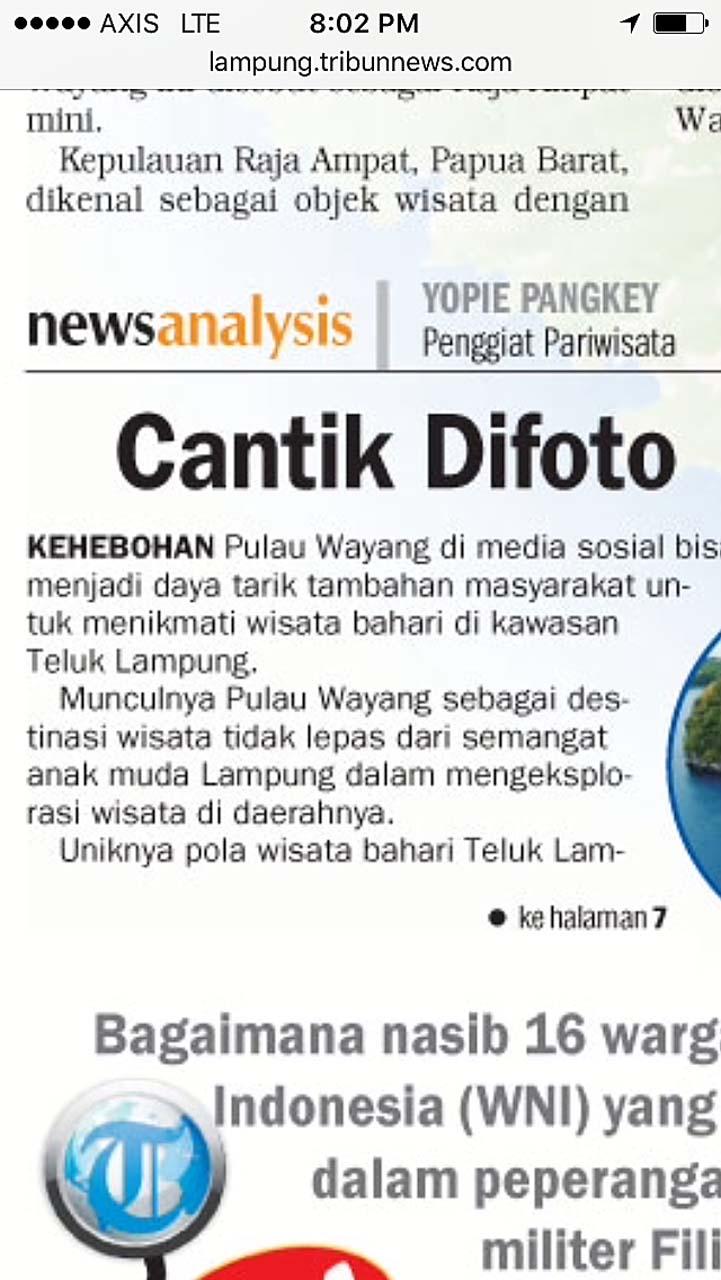 Pulau Wayang - Yopie Pangkey - Keliling Lampung - 1