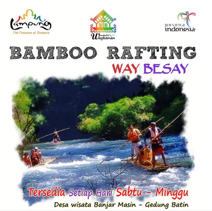 Bamboo Rafting Way Besai - wisata way kanan