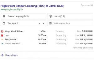 Harga Tiket Pesawat Lampung Jambi