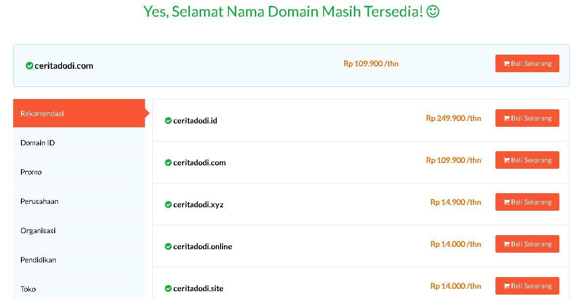 Cara membeli domain blog di idwebhost