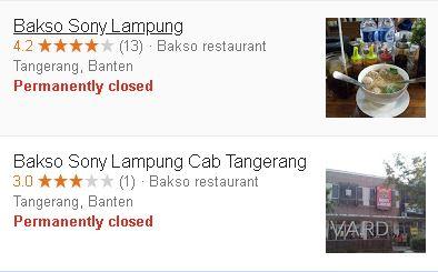 bakso sony tangerang tutup - closed