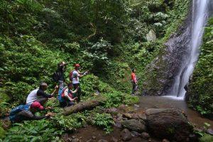 Wisata alam Desa Talang Mulya. Curug Kudus. (Foto: Budhi Marta Utama)