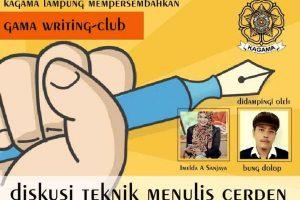 Diskusi Belajar Menulis Cerpen Kagama Lampung