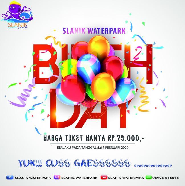 Tiket Promo HUT Slanik Waterpark Februari 2020