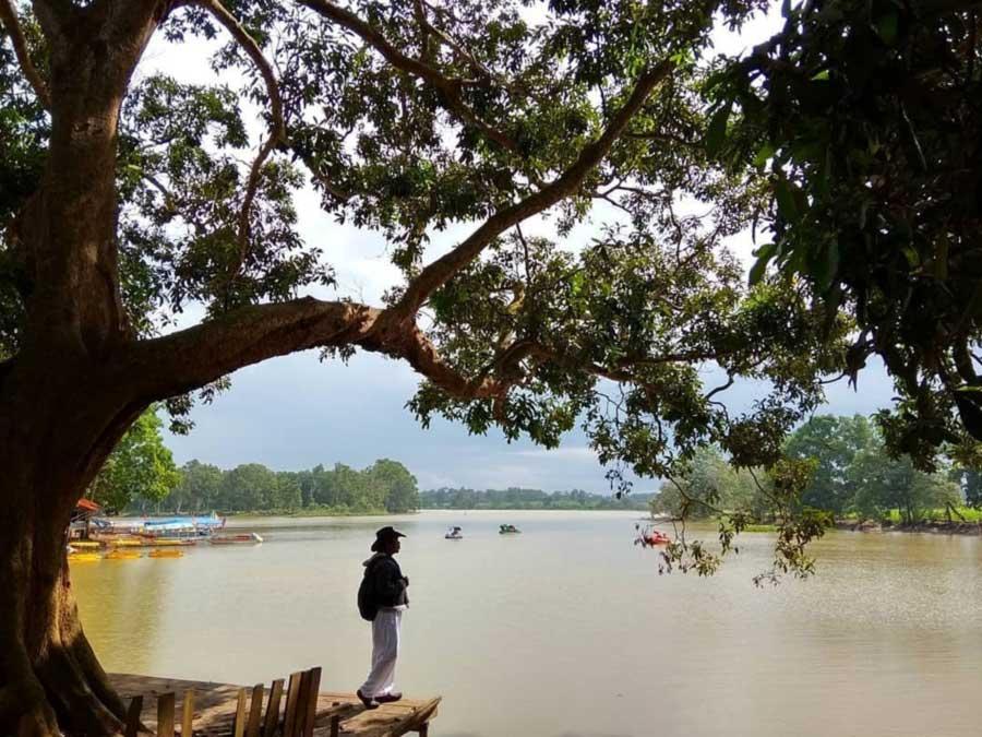 Foto Gambar Bendungan Dam Raman KOta Metro Lampung - @kutaheriawan